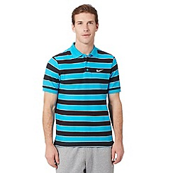 Nike - Blue 'Matchup' striped polo shirt