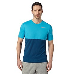 Nike - Blue 'Dri-FIT' racer sports t-shirt