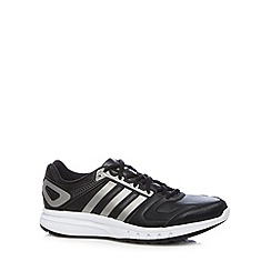 adidas - Black 'Galaxy' lace up trainers