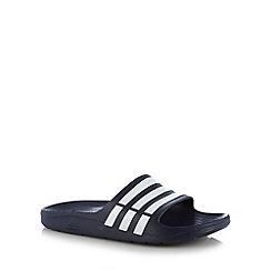 adidas - Navy 'Duramo Slide' flip flops