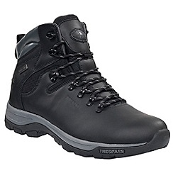 Trespass - Unisex black hillden boots