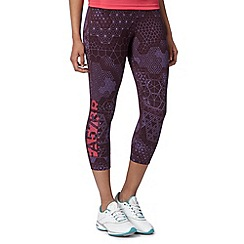 Reebok - Navy tattoo print cropped capri pants