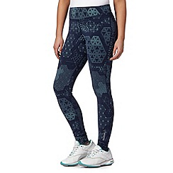 Reebok - Navy 'Playdry' geometric leggings