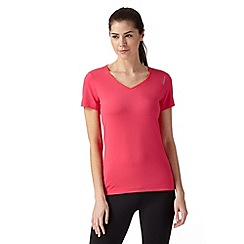 Reebok - Pink 'Playdry' slim fit sports t-shirt