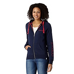 Animal - Navy fleece lined logo hoodie