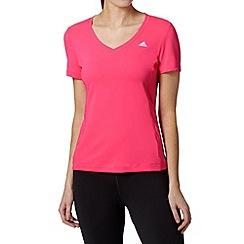 adidas - Pink 'ClimaLite' slim fit t-shirt