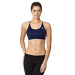 adidas - Dark purple light support reversible sports bra
