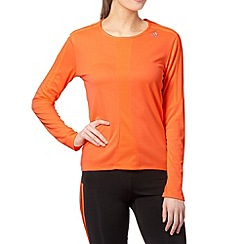 adidas - Orange 'Climalite' long sleeved top