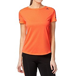 adidas - Orange 'Climalite' crew neck t-shirt