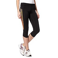 adidas - Black 'Climalite' three quarter length fitness tights