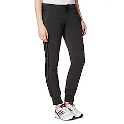 adidas - Dark grey cuffed jogging bottoms