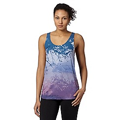 adidas - Blue printed drape tank top