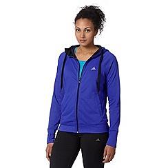 adidas - Dark blue 'ClimaLite Cotton' hooded jacket
