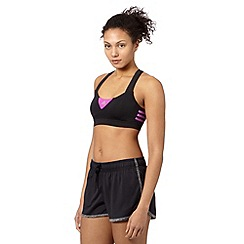 adidas - Black cross strap sports bra