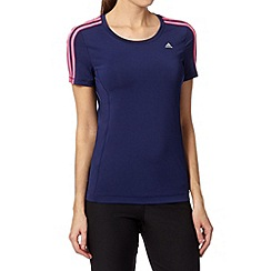 adidas - Navy crew neck sports t-shirt