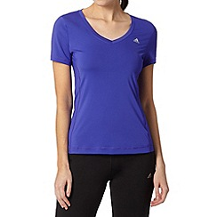 adidas - Dark purple slim fit t-shirt
