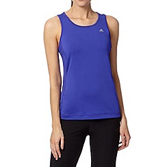 adidas - Dark purple crew neck sports vest