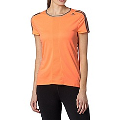 adidas - Orange regular fit 'ClimaLite' t-shirt