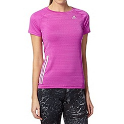 adidas - Pink 'ClimaCool' sports t-shirt