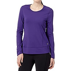 XPG by Jenni Falconer - Purple fitness long sleeved top
