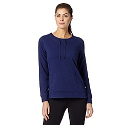 XPG by Jenni Falconer - Navy fitness tie neck sweater