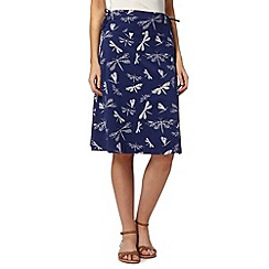 Weird Fish - Navy butterfly print jersey skirt