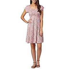 Weird Fish - Pink floral short sleeved dress