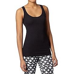 Nike - Black ribbed fitness vest