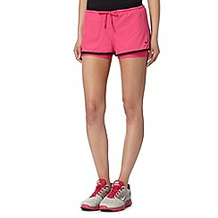 Nike - Pink 'Dri-FIT' double layer gym shorts