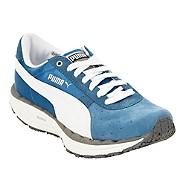 Puma - Blue 'Bodytrain' leather trainers