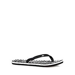 adidas - Black textured spot flip flops