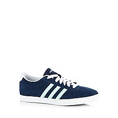 adidas - Navy 'Courtset' suede trainers