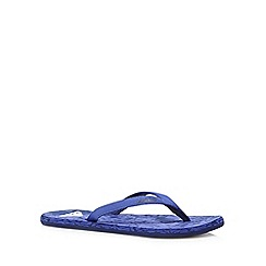 adidas - Blue marble effect flip flops