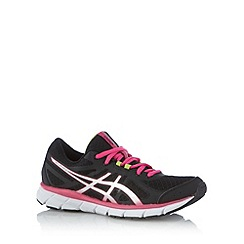 ASICS - Black mesh running trainers