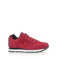 Nike - Dark pink 'MD Runner' suede trainers