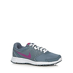 Nike - Pale grey 'Revolution' leather mix trainers