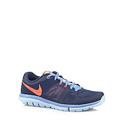 Nike - Navy 'Flex Run' mesh trainers