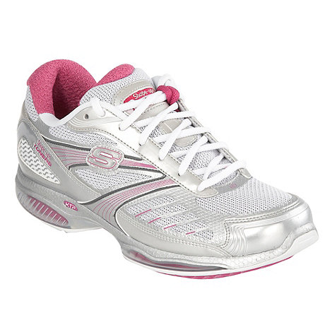 Skechers - Silver +Ultra+ shape-ups trainers