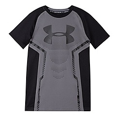 Under Armour - Boy's black short sleeved fitness t-shirt