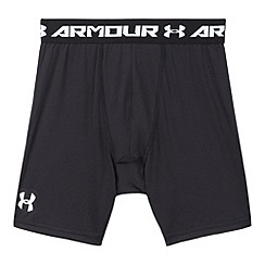 Under Armour - Boy's black 'HeatGear' mid shorts