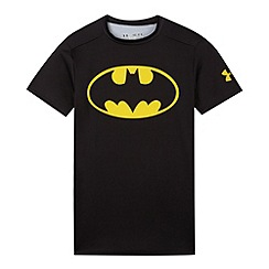 Under Armour - Boy's black 'Batman' base layer