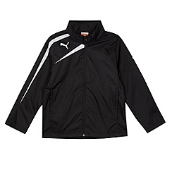 Puma - Boy's black Spirit rain jacket