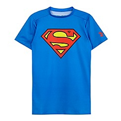 Under Armour - Boy's blue 'Superman' base layer top