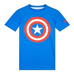 Under Armour - Boy's blue 'Captain America' base layer top