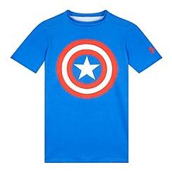 Under Armour - Boy's blue 'Captain America' base layer top
