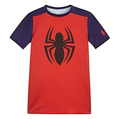 Under Armour - Boy's red 'Spider-Man' base layer top