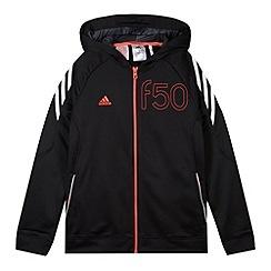 adidas - Boy's black 'ClimaLite' hoodie