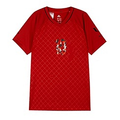 adidas - Boy's red 'Climalite' sports t-shirt