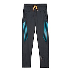 adidas - Boy's dark grey Messi knitted pants
