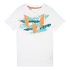 adidas - Boy's white logo 'Messi' t-shirt